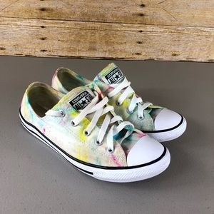Hand Died Converse Sneakers Sz 8